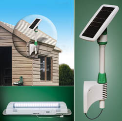 Light My Shedd II - outdoor shed, garden shed, solar powered, solar powered light, shed light, light in the shed, save energy, energy efficient, light my shed, remote lights, lighting